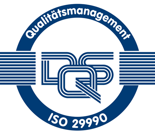 DQS Qualitätsmanagement ISO 29990